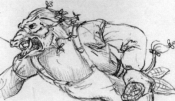 Wild Boar SketchWild Boar Sketch